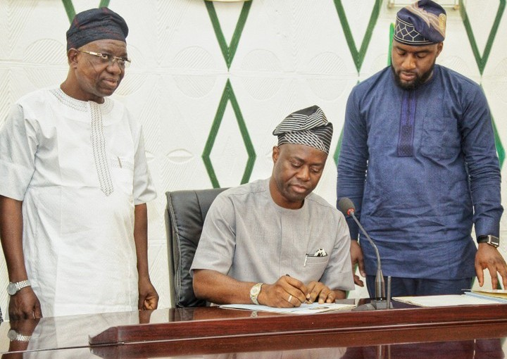 Oyo State Governor Seyi Makinde, cuts down Budget from N285bn To N103bn (Photos)