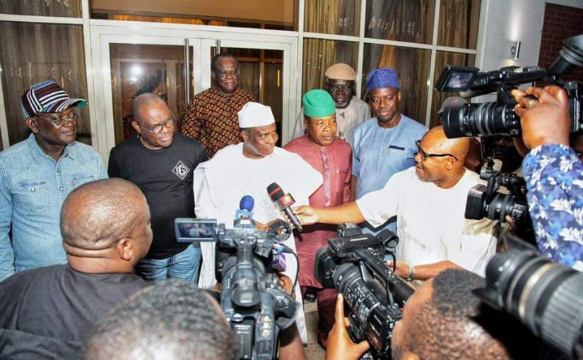 All PDP governors meet in Port Harcourt to commend