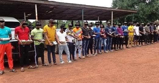 28 Yahoo Boys Arrested In Enugu(photos)
