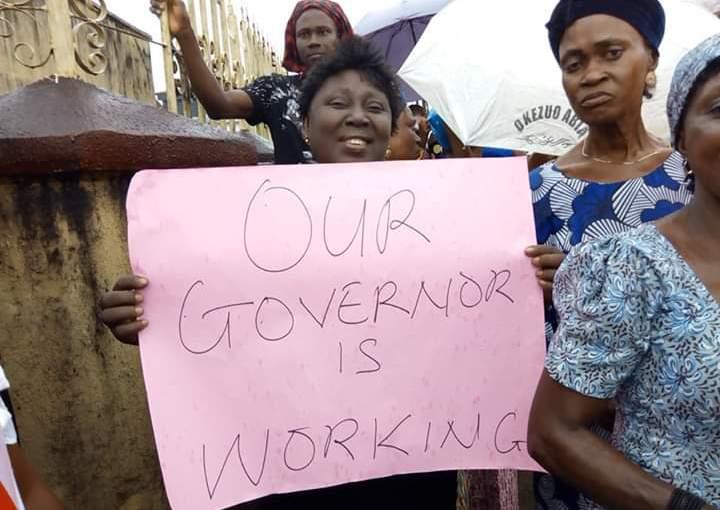 Abia women storms the streets to support Governor OkezieIkpeazu