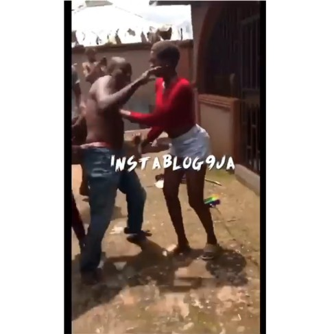 "Ekpoma Female Students Beat ""Policeman"" Who Jumped Into Their Hostel Through The Fence (photos\video)"