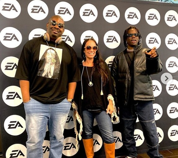 Don Jazzy and Rema spotted at EA sport center in theUS
