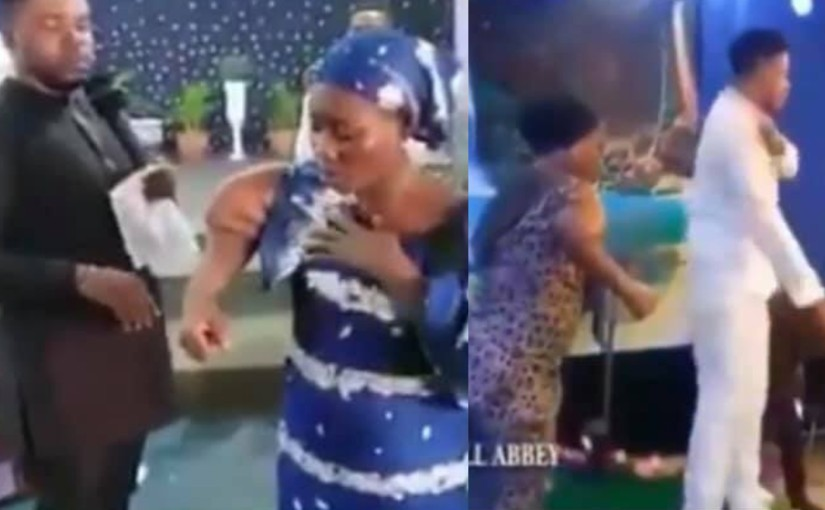 Two Pastors exposed for using same lady for same miracle; her medical condition has been uncovered(videos)