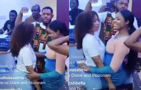 BBNaija winner Mercy and her fightmate, Tacha reconciles in Lagos party
