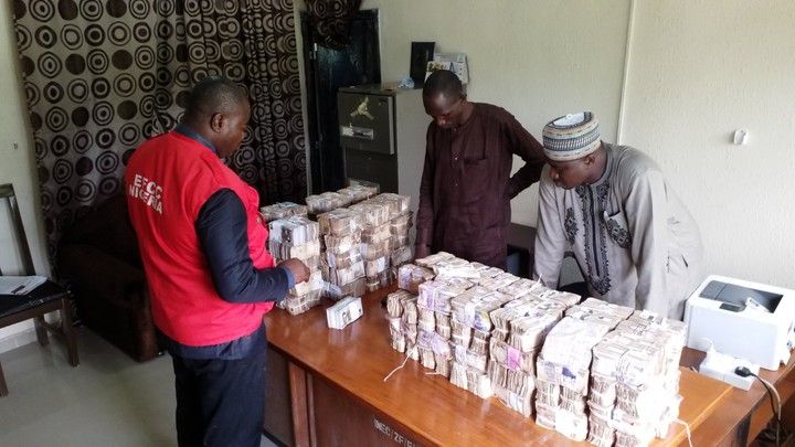 EFCC Recovers N65M From Zamfara INEC Office (Photos)