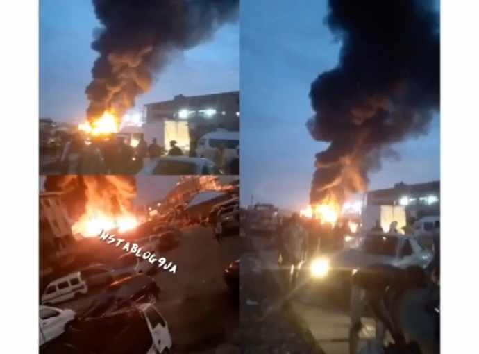 Market Fire: Otowodo Market In Ughelli burns to ashes