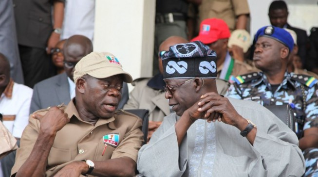 APC Stakeholders Wants Oshiomhole Sacked Over Tinubu's 2023 Presidential Ambition