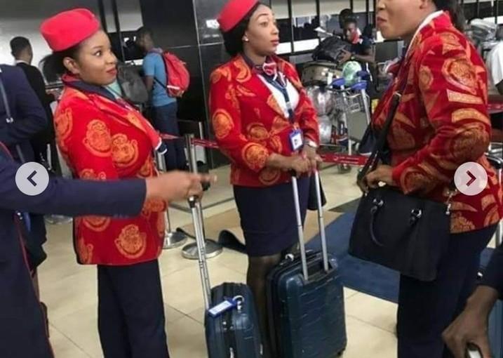 Air Peace Crew Rocks 'Isi Agu' Suit And Red Cap ToDubai