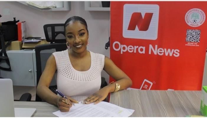 Former BBNaija housemate, Avala  becomes Opera News brandambassador