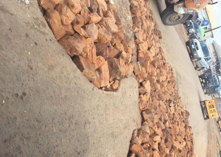 'Operation Zero Portholes' – Abia Government Using Big Stones To Destroy MoreRoads