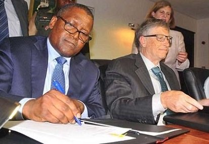 Dangote and some Nigerian Governors In U.S For Talks With Bill Gates