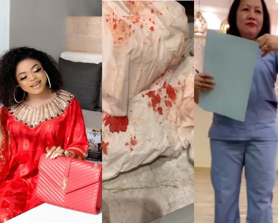 """My Body Is Swollen, I Am Bleeding"" – Bobrisky Shares Bloody Photo"