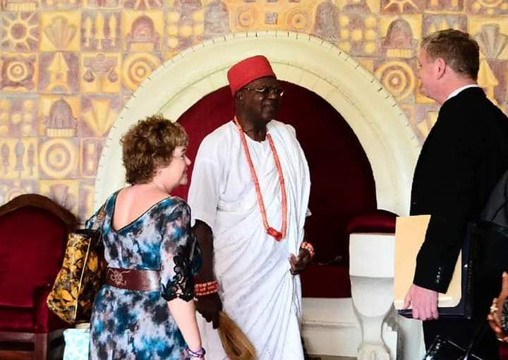 UK High Commissioner Visits Obi Of Onitsha At His Ime-Obi Palace