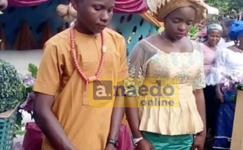 Youngest Couple: 17-Year-Old Boy Marries His 16-Year-Old Girl Friend In Nnewi, Anambra State (Photo)