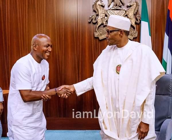 Buhari receives Bayelsa State  Governor-elect David Lyon inAbuja
