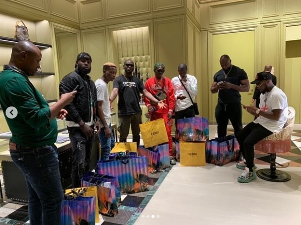 Davido Buys Bags Of Biscuits For His Squad In Dubai (Photos)