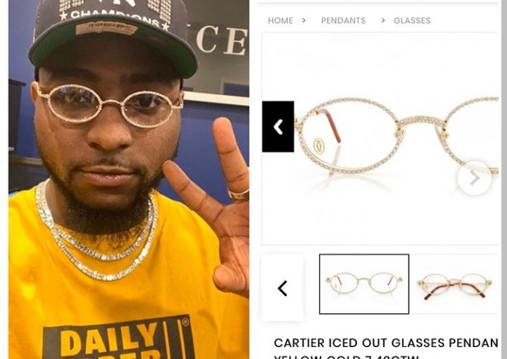 Check Out Davido's N4.5 Million Glasses Which He Wore To His Son's Naming Ceremony (Photos)