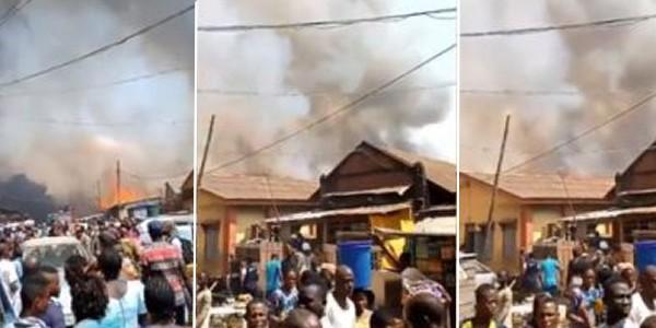 Okobaba Plank Market, Ebute Metta GutsFire