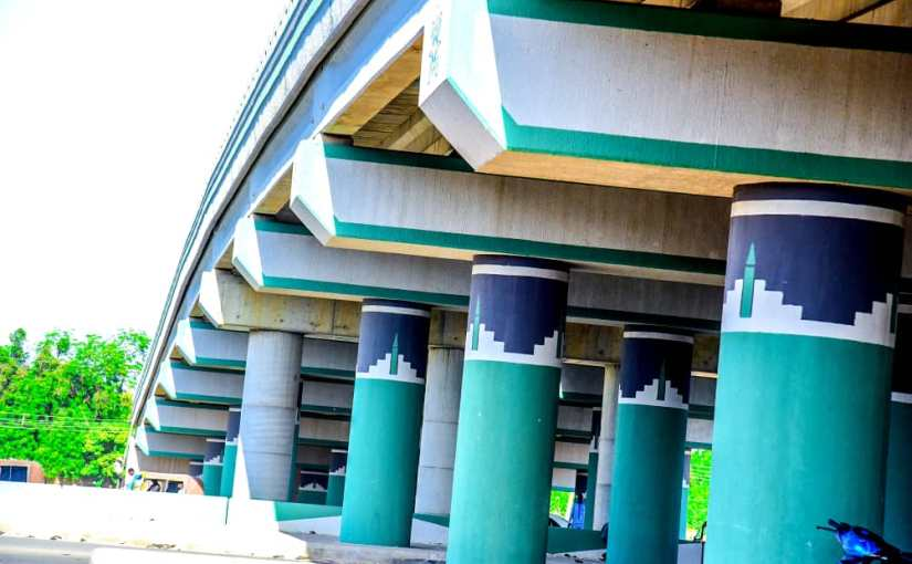 Governor Ganduje builds 3 in 1 flyover in Kano (Photos)