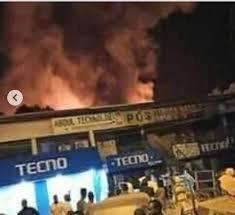 Maiduguri GSM Market, Burns Down(Video)