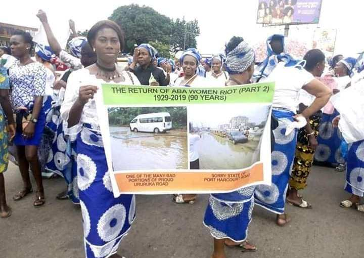 Aba Rods are death traps – Aba women Gives Gov. Ikpeazu 100-Day Ultimatum To Fix Roads Or FaceThem