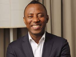 Sowore's Wife, Opeyemi And Some Supporters Protest In US, Calls For His Release