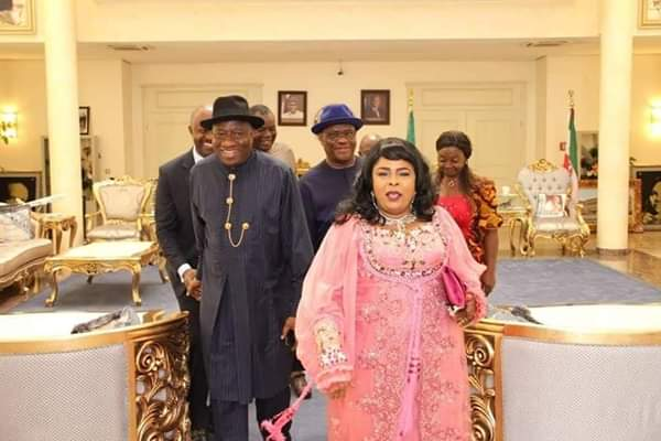 Goodluck Jonathan And His Wife Patience Visits Rivers Government House