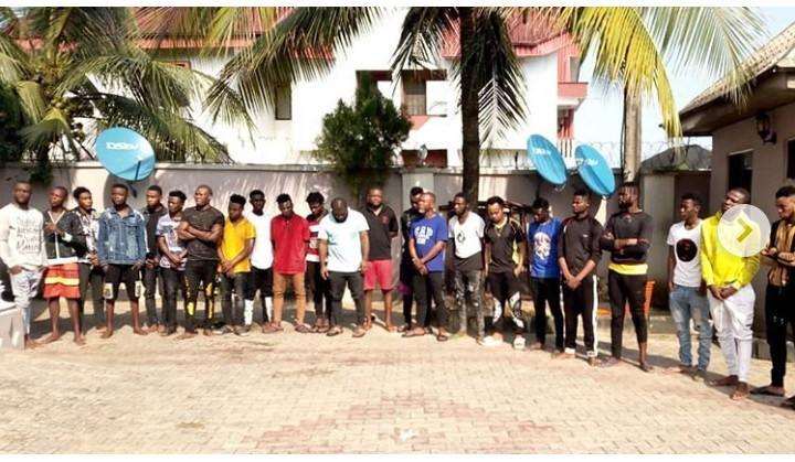 Trainees Of Yahoo Academy In Akwa Ibom Arrested By The EFCC (photos)