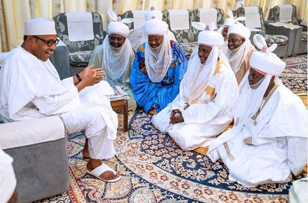 Buhari Hosts title holders at his Daura country home