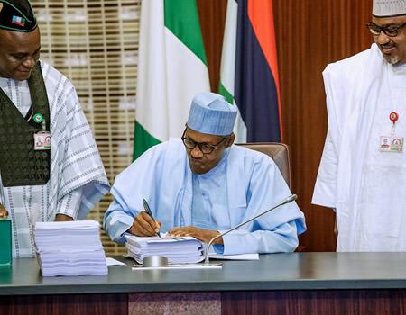 Buhari Signs 2020Budget