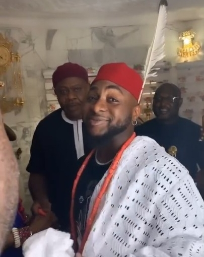 Davido Receives A Chieftaincy Title In Ibusa, Delta State