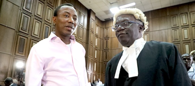 """DSS offered """"death warrant"""" deal to Sowore –Falana"""
