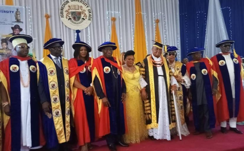 Igbinedion University Confers Honorary Doctorate Degree On Ex-President Goodluck Jonathan