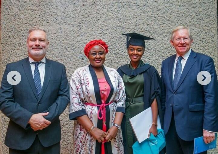 Buhari's Daughter Graduates With First Class From UK University(Photo)