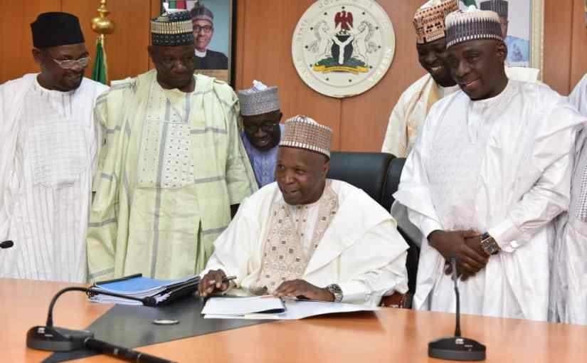 Gombe State Governor Inuwa Yahaya Signs N130.83 Billion 2020 Budget