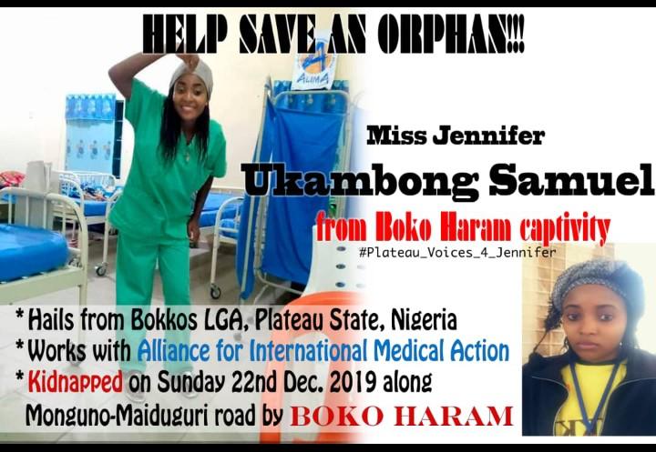 Another Beautiful Jennifer Ukambong Samuel Kidnapped By BokoHaram
