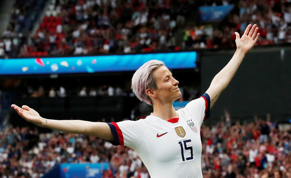 USA women international player, Megan Rapinoe wins the Women's ballond'or