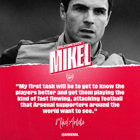 Arsenal Announce Mikel Arteta As Their New Head Coach