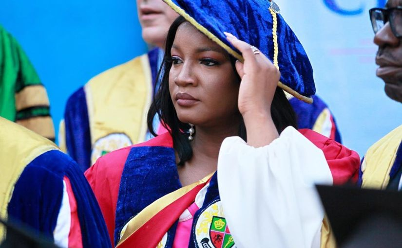 Star actress, Omotola Jalade-Ekeinde Bags honorary doctorate degree in Igbinedion University