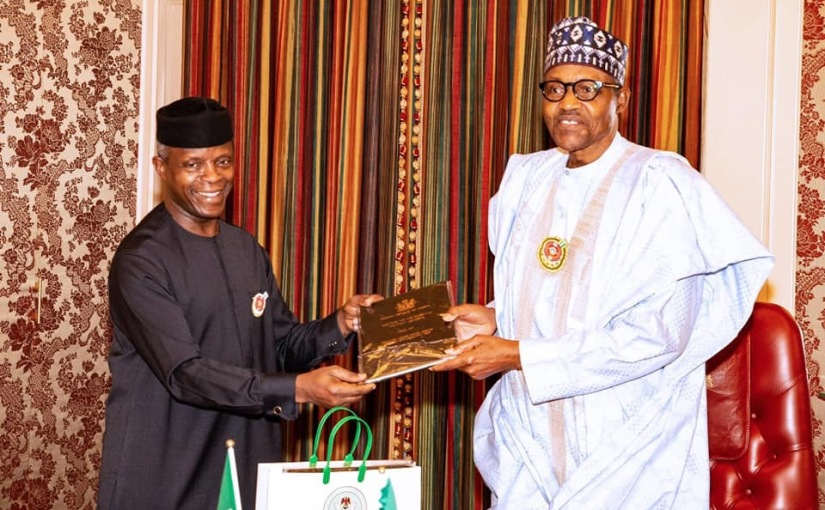 Osinbajo Presents Christmas Card To Muhammadu Buhari(Pictures)