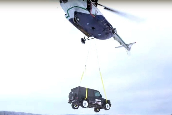 Russian Vlogger Destroys His Mercedes-AMG G63 SUV By Dropping It From Helicopter