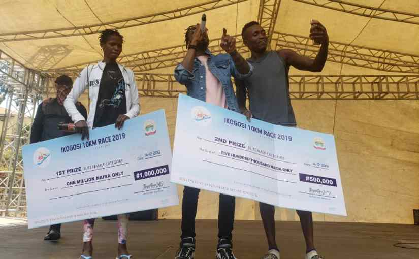 Sadjo Samuel 1,999 athletes Wins First Ikogosi 10KM Marathon