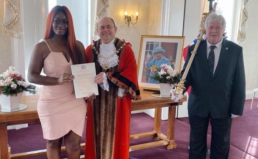 Ex Bbnaija Housemate Uriel Oputa Becomes A BritishCitizen
