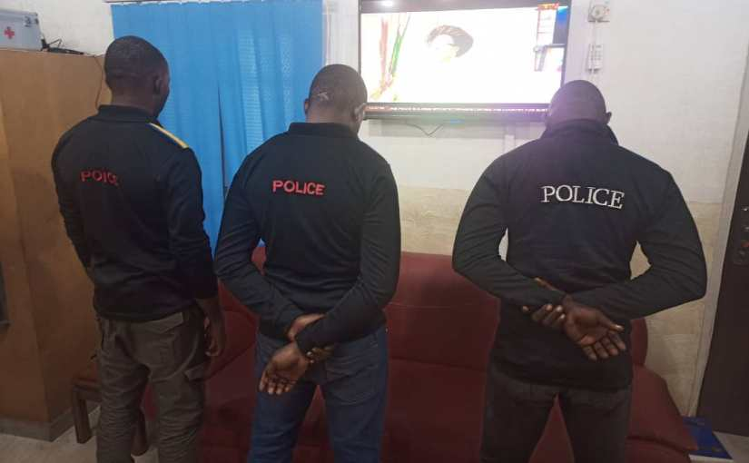 Enugu State Police Command Parades Three Police Officers Who Were Caught Brutalising A Civilian
